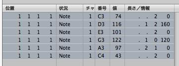 選択したノートの値を一括して揃える